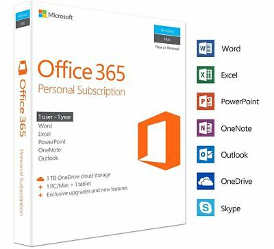 Microsoft Office 365 Personal 1User 1 Year Sub. - EXTEND YOUR CURRENT ACCOUNT !