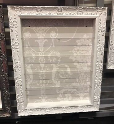 5 Tier Nail Polish  Wall Mounted Display in White FRAME - Grey/White  (POS)