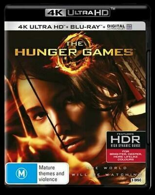 The Hunger Games Jennifer Lawrence Ultra HD 4K + Blu Ray  (New)