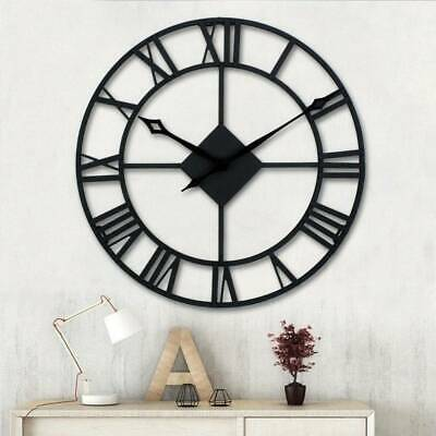 Large 40/60CM Roman Wall Clock Antique Vintage Metal Skeleton Numeral UK Seller