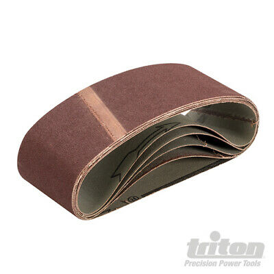 LOT de 5 Bandes abrasives 64 x 406 mm TRITON - Voir Grains