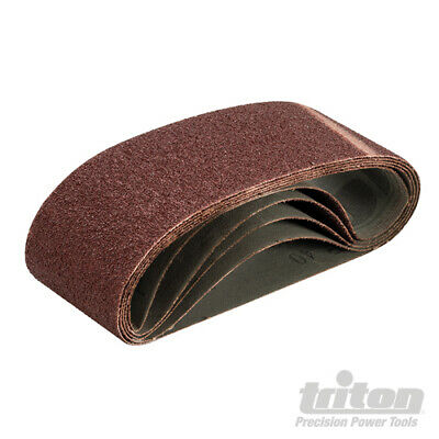 LOT de 5 Bandes abrasives 75 x 480 mm TRITON - Voir Grains
