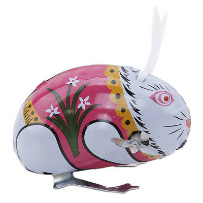 Children Creative Rabbit Jumping Wind-up Clockwork Educational Toys Gifts IT