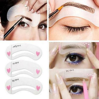 Reusable Eyebrow Shapes Stencils Shaper Grooming Brow Make-Up Template Tool IT