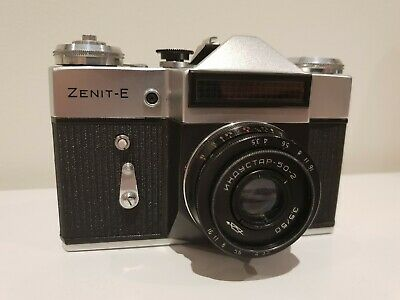 Zenit E 35mm Soviet SLR Camera with Industar 50-2 lens
