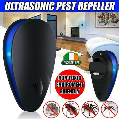 Ultrasonic Pest Repeller Plug in Electronic Repellent Rat Mouse Spider Insect IR