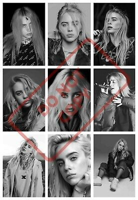 BILLIE EILISH POSTER PRINT COLLAGE ART 1 - VARIOUS SIZES A6/A5/A4/A3/A2/A1 cd