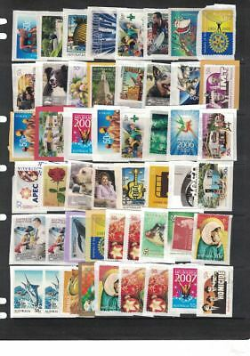 Australian200 x 50c Stamps On Paper used Uncancelled  F V $100