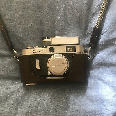 Canon P Rangefinder Camera With Canon LTM 35mm F/2.8 Lens And Canon Carry Case