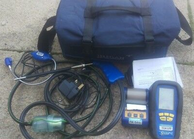 Anton Sprint V2 kit flue gas analyser printer set carry bag