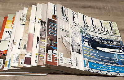 Elle Decoration Magazine - 14 Assorted Issues