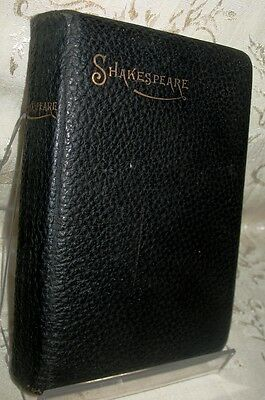 """Victorian Leather Bound Gold Gilted Book """"The Works of William Shakespeare"""""""