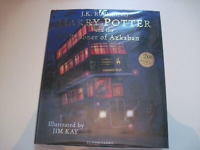 Harry Potter and the Prisoner of Azkaban ILLUSTRATED SIGNED by JIM KAY 1ST first