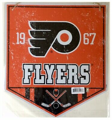 Philadelphia Flyers NHL Ice Hockey Stick Mask Metal Hanging Garden Wall Sign
