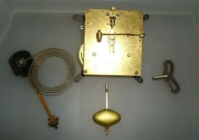 Vtg Mauthe Striking Mantel Clock Movement/pendulum/gong Spares/repair
