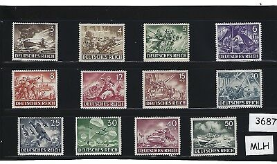 MLH stamp complete set / Nazi Germany Military Armed forces /  1943 Third Reich