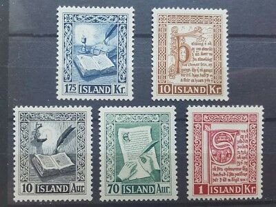 Iceland - 1953 Ancient manuscript complete set - mint never hinged MNH * * VF/XF