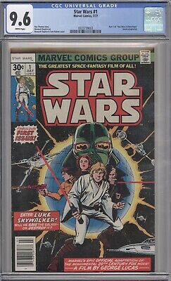 Star Wars #1 CGC 9.6 WHITE pages NEW CASE graded movie 1977 1st print marvel