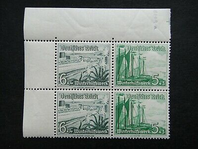 Germany Nazi 1937 Stamps MNH MH Block of 4 Lifeboat Third Reich Deutschland Germ