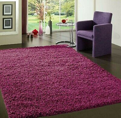 Purple 80x150cm Small Soft AntiSkid Shaggy Floor Rug Mat Thick NonShed Long Pile