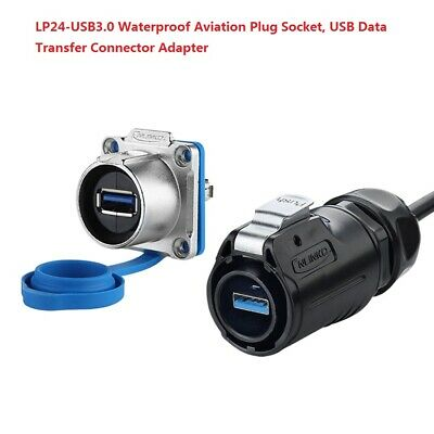 LP24-USB3.0 Waterproof Aviation Plug Socket, USB Data Transfer Connector Adapter