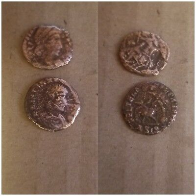 lot of two  ANCIENT ROMAN COINs