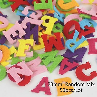 50pcs Alphabet Number 0-9 Felt Cloth Polyester Fabrics Patch Non-woven aa-063