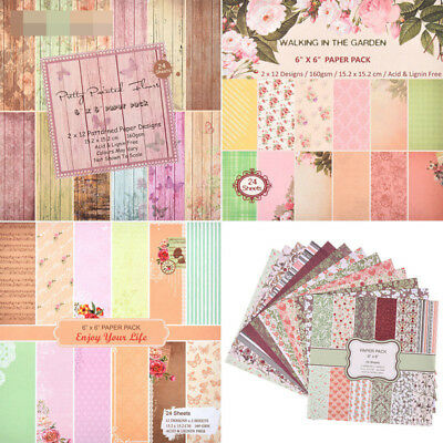 24 Sheets Scrapbooking Pads Paper Origami Art Background Paper CH-415