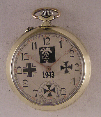 Just Serviced MILITARY Swiss Pocket Watch A+