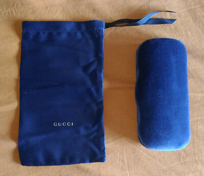 Genuine Gucci Blue Navy Velvet Spectacles Glasses Eyeglasses Case Box