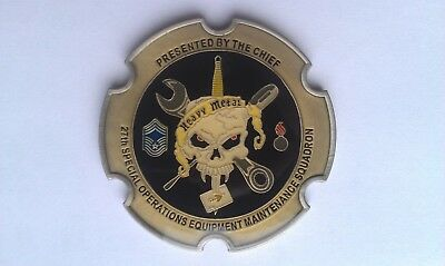 Challenge coin 27th maintenance squadron, U.S. air force army Coins Militaria