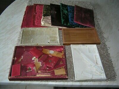 Trays Etc For Antique Victorian Jewellery/trinket Boxes - Job Lot - As Found.