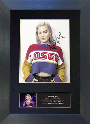 ANNE-MARIE 2002 Friends Mounted Signed Photo Reproduction Autograph Print A4 776