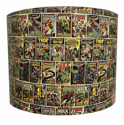Marvel Superheros Lampshades, Ideal To Match Marvel Wallpaper & Duvet Covers.