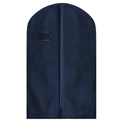 """Hoesh Dress Bags NAVY 54"""" Breathable Suit Shirt Skirt Clothes Cover Garment Bags"""