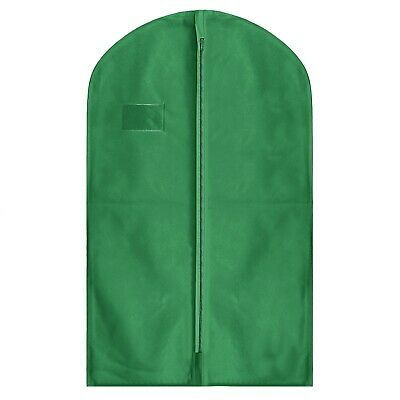 "Hoesh Dress Bags GREEN 54"" Breathable Suit Shirt Skirt Clothes Cover Garment Bag"