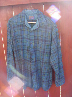 Vintage Mens Pendleton Wool Shirt Size Medium
