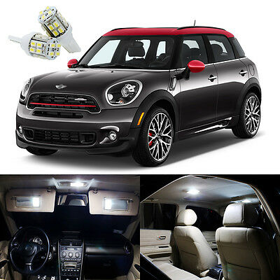 15 X Xenon White Led Interior Lights Kit For Mini Cooper Countryman