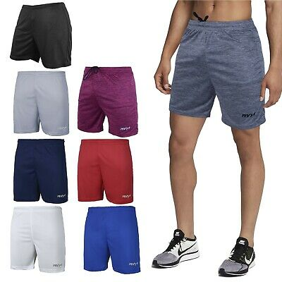 Mens Football Shorts Jogging Running Gym Sports Breathable Fitness Size S - 2XL