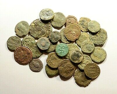 Lot Of 30 Imperial Roman Bronze Coins For Identifying - 13