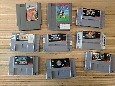 Lot Of 9 Nintendo games Not working For Parts SNES NES