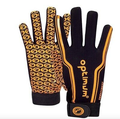 Optimum Unisex Velocity Thermal Rugby Gloves, Black/Orange - SIZE XS NEW PACKED