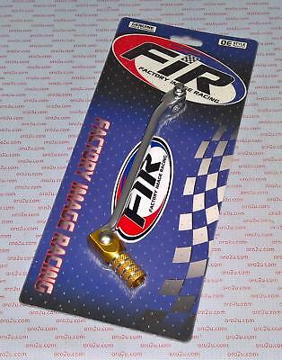 FACTORY RACING Gear Lever pedal SILVER YELLOW SUZUKI DR650 1996 - 2013 DR 650