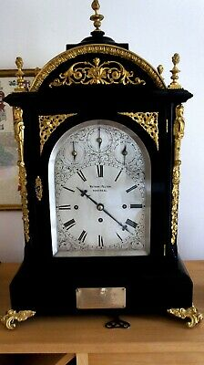 19th Century Ebonised Bracket Clock . Circ 19th Century, Striking on 8 Bells