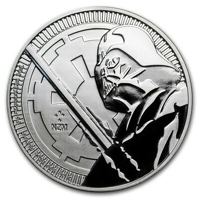 2018 Niue Star Wars Darth Vader Lightsaber $2 BU 1 oz Silver Coin in Capsule