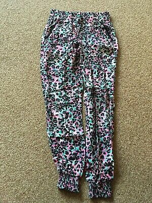 Girls, Multi Coloured Print, Cuffed, Pocketed, Trousers. Age 7-8years. BRAND NEW