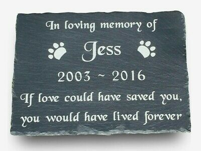 Personalised Engraved Pet Memorial Slate Headstone Grave Marker Plaque Dog Pets