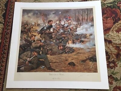Civil War Print, THE GRAY WALL, by Don Troiani, Unframed in Mint Condition