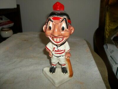 cleveland indians baseball player bank VINTAGE STANFORD POTTERY SIGNED HTF NR