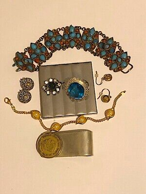 Mixed lot of vintage costume jewellery, silver and various collectables & other